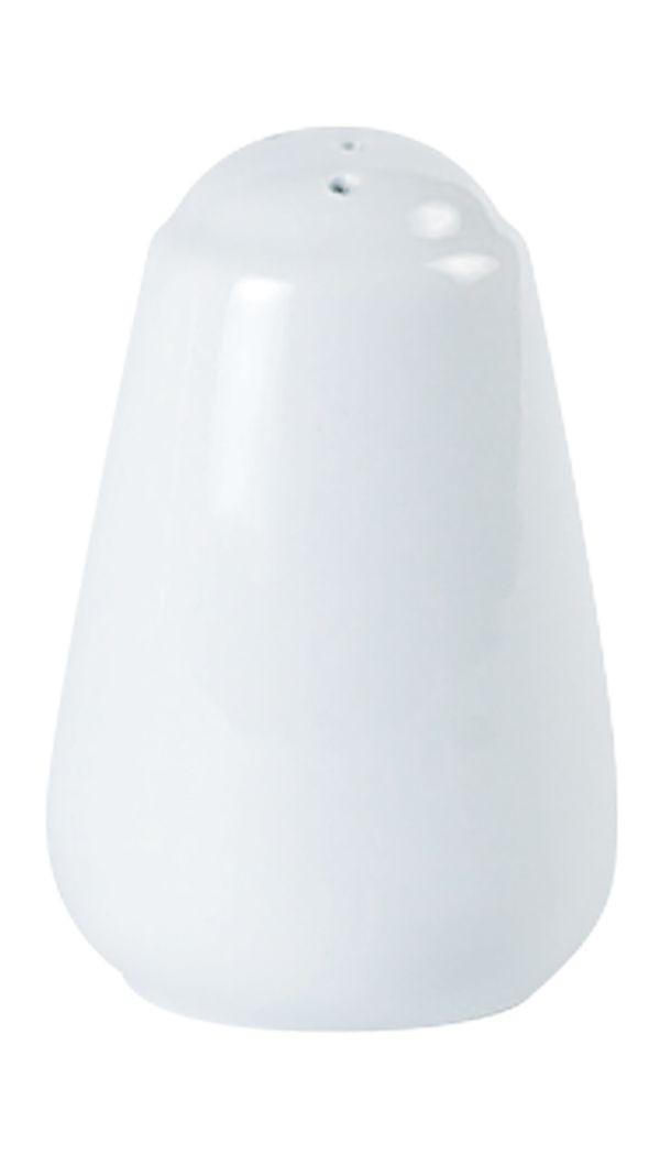 Porcelite White Traditional Pepper Pot 8cm