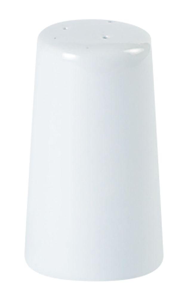Porcelite White Tall Pepper Pot 10cm
