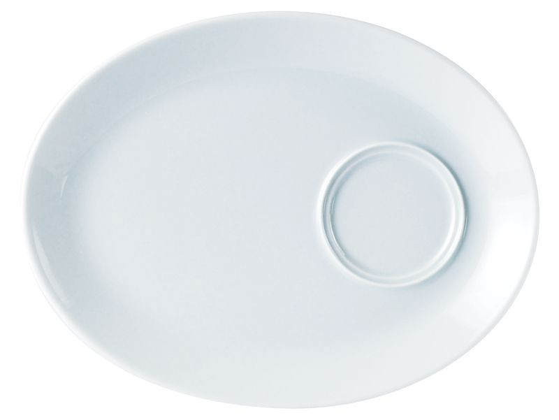 Porcelite Oval Gourmet Plate 28cm