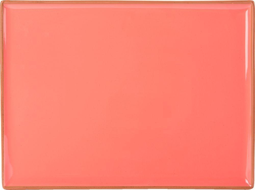 "Coral rectangular Plato de 27x20cm / 10.75x8.25"""