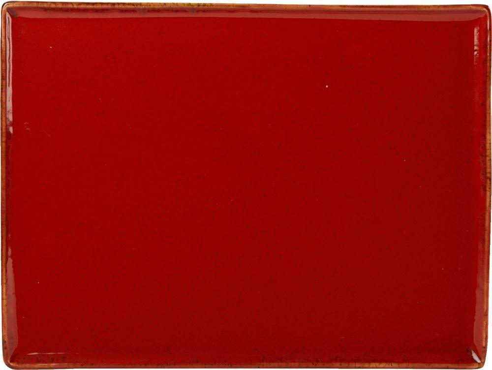 35x25cm magma rectangular Plato