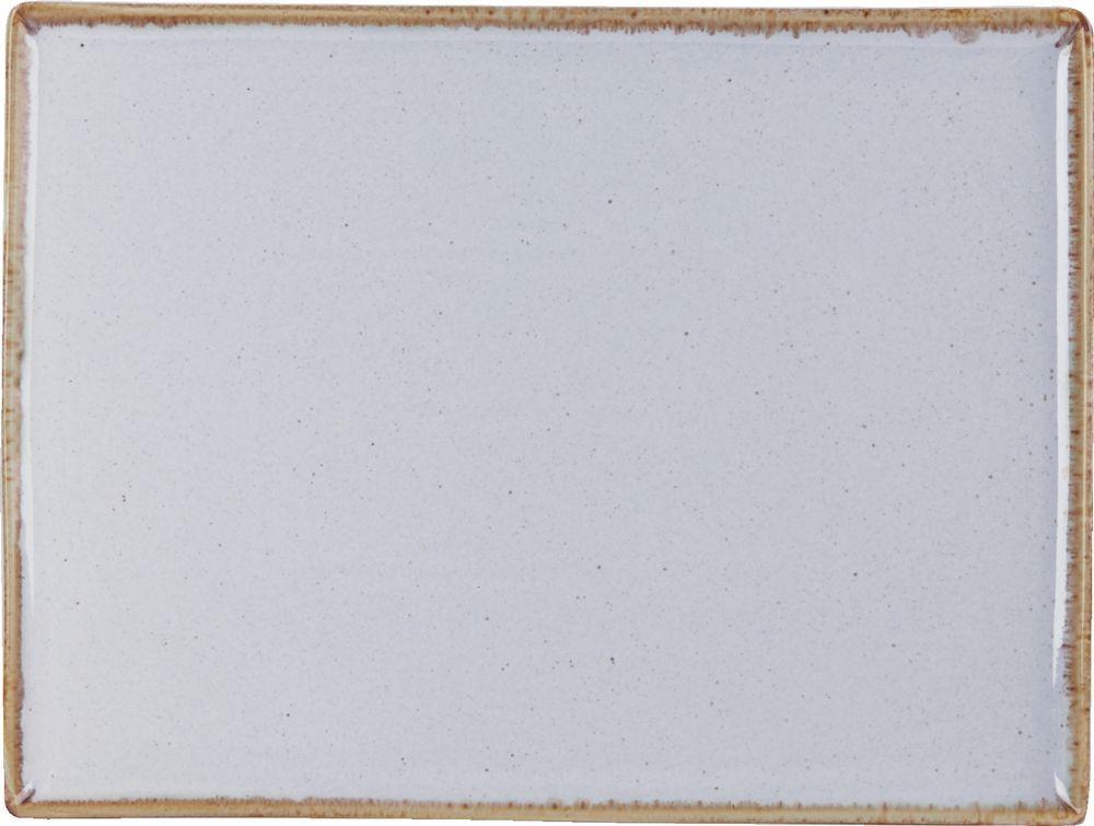 "Piedra rectangular Plato de 27x20cm / 10.75x8.25"""