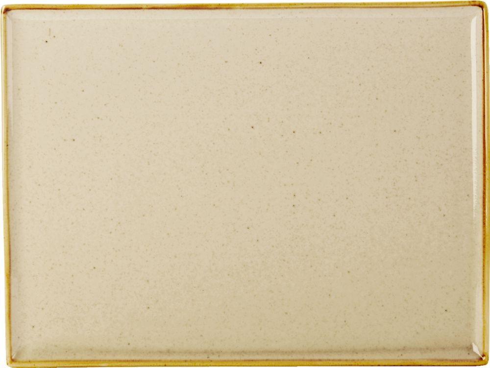 35x25cm trigo rectangular Plato