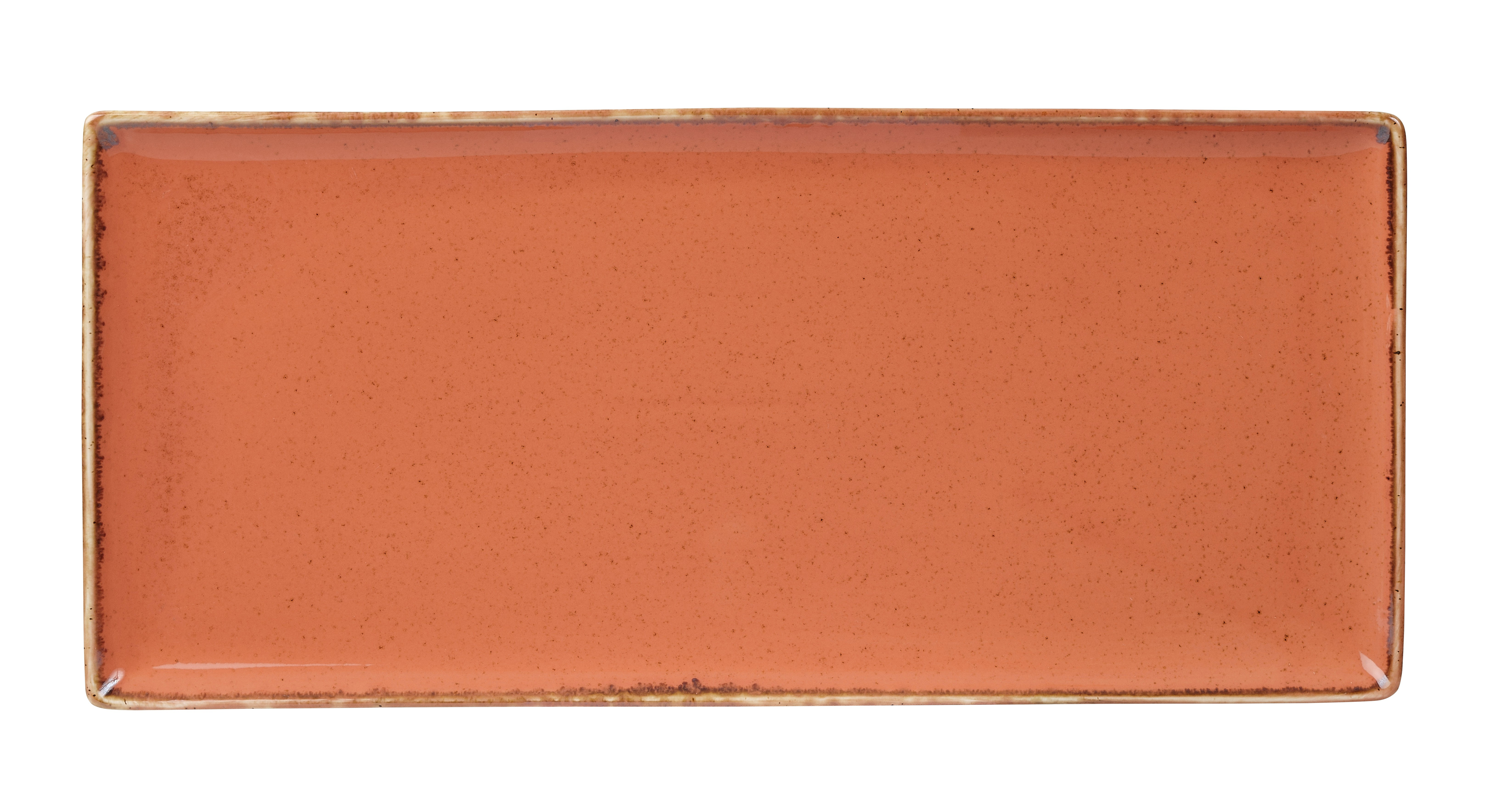 "Coral rectangular Plato 35x15.5cm / 13.75 ""x 6"""
