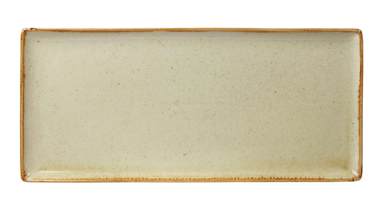 "Trigo rectangular Plato 35x15.5cm / 13.75 ""x 6"""