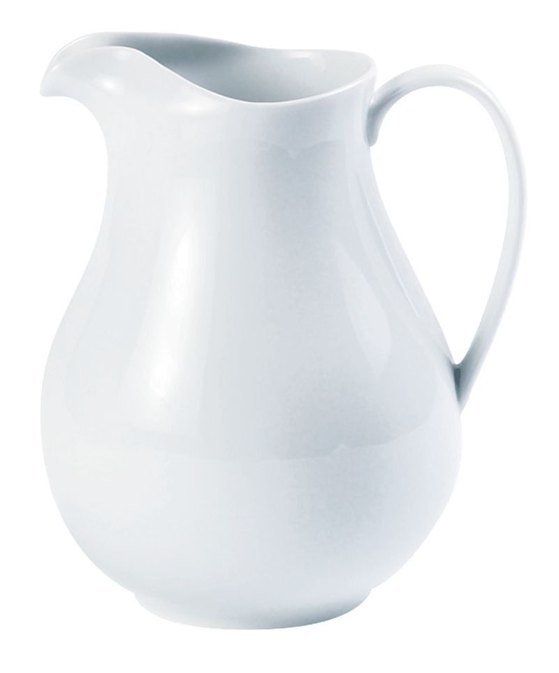 Porcelite White Ice Lipped Water Jug 1.5ltr/53oz