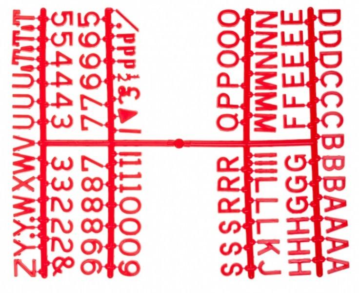 Design A Sign Peg Board Letters Red 0 5inch Letter Sets Design A Sign Mbs Wholesale