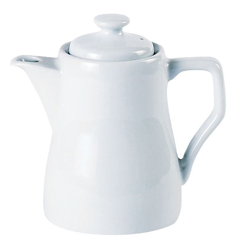 Porcelite White Traditional Style Coffee Pot 31cl /11oz