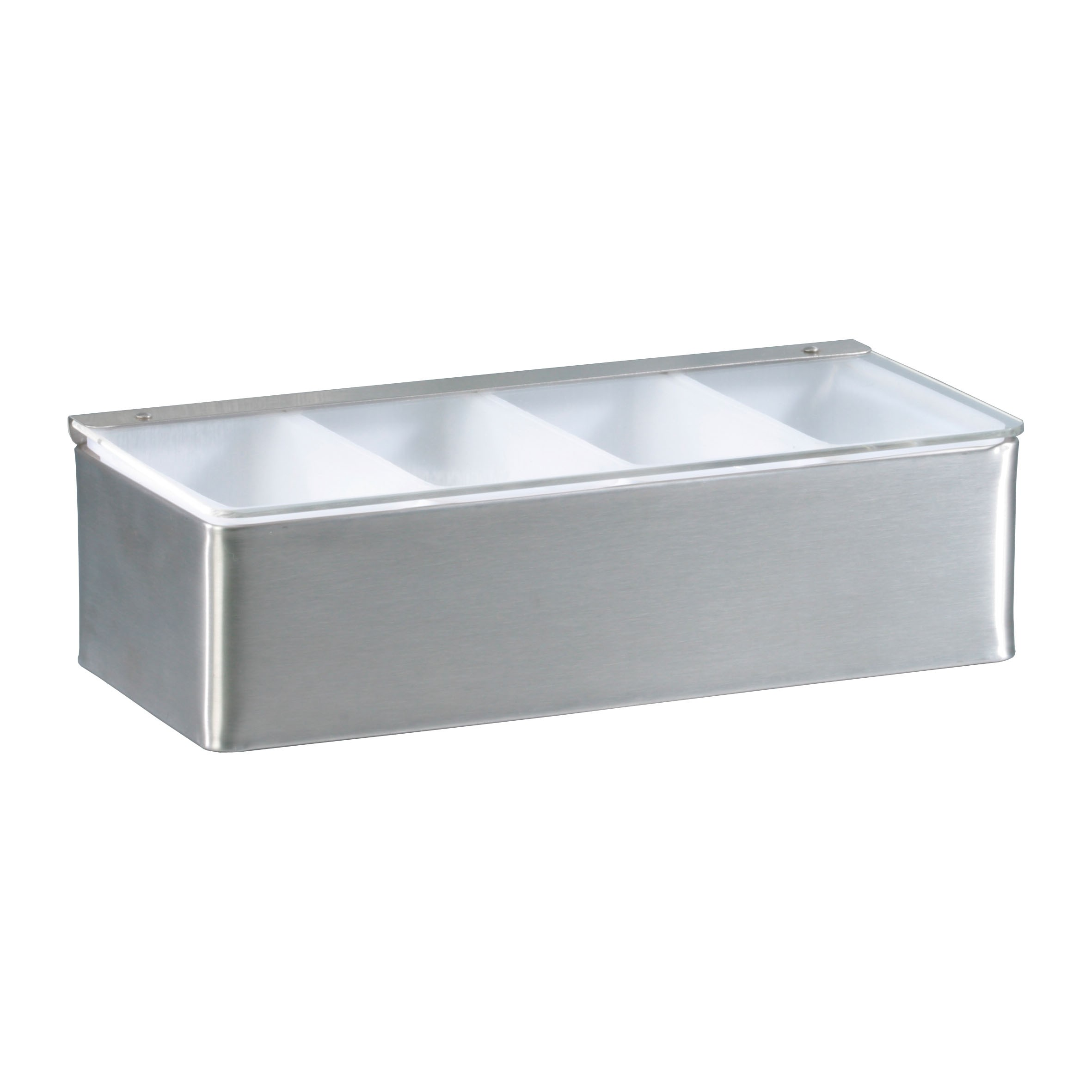 Condiment Dispenser 4 Compartments Stainless Steel