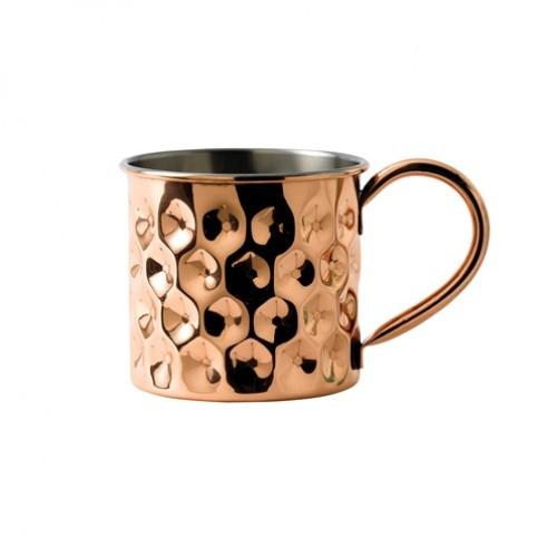 Copper Dented Mug with Nickel Lining 48cl/17oz