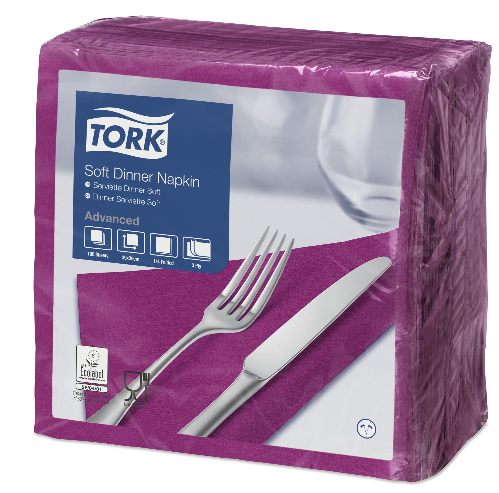 Purple Dinner Napkins 39cm 3ply