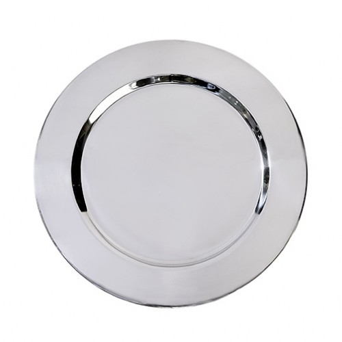 Polished Stainless Steel Charger Plate 33cm