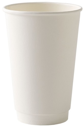 White Disposable Double Wall Cup 16oz / 453ml