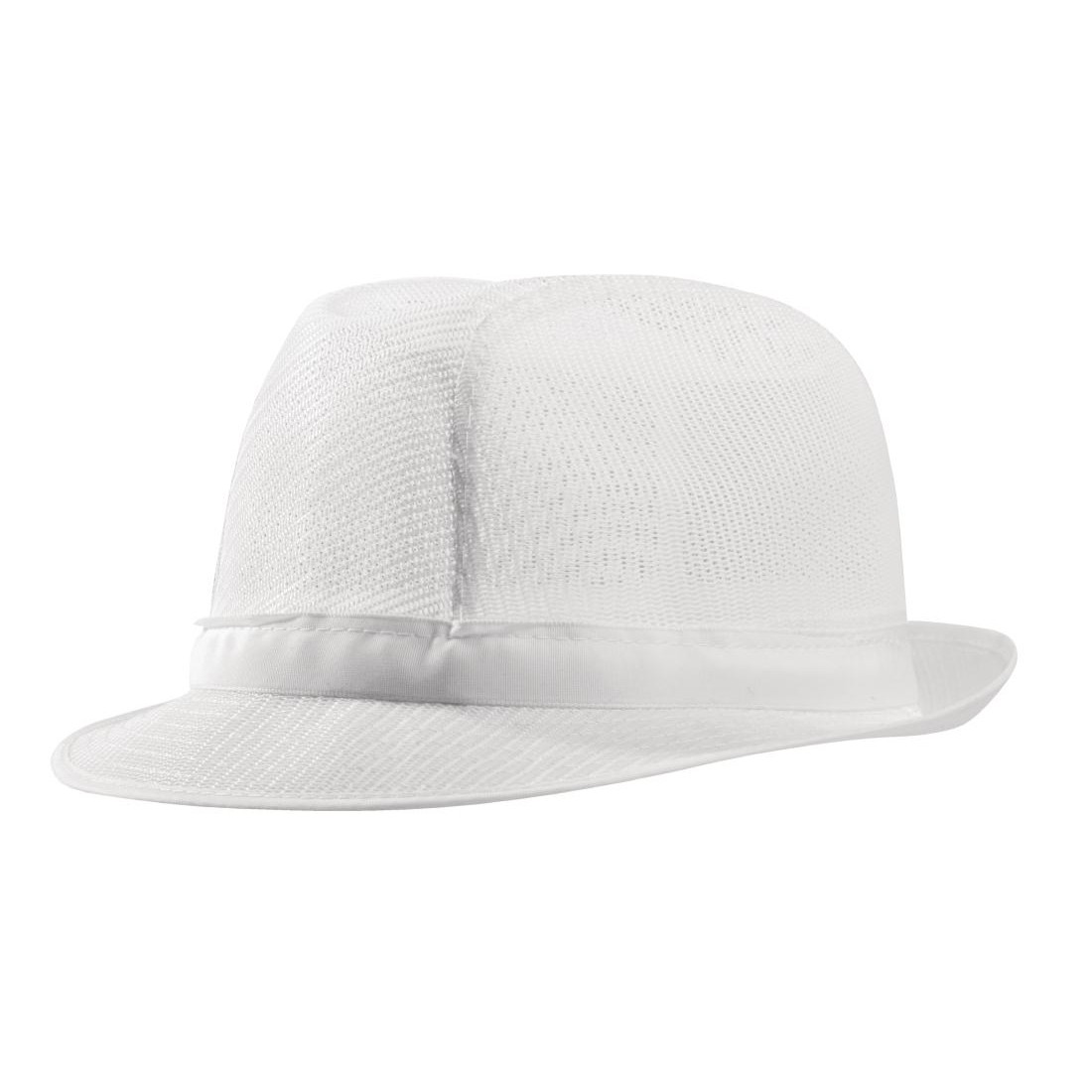 Trilby Hat White - Catering Uniform Net Trilby Hats - MBS Wholesale 0c027f52809
