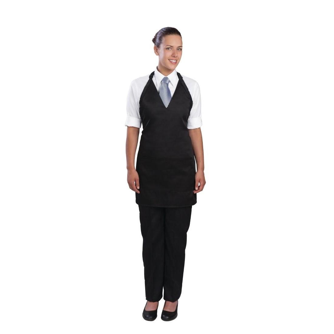 Chef Works Unisex Tuxedo Bib Apron Black