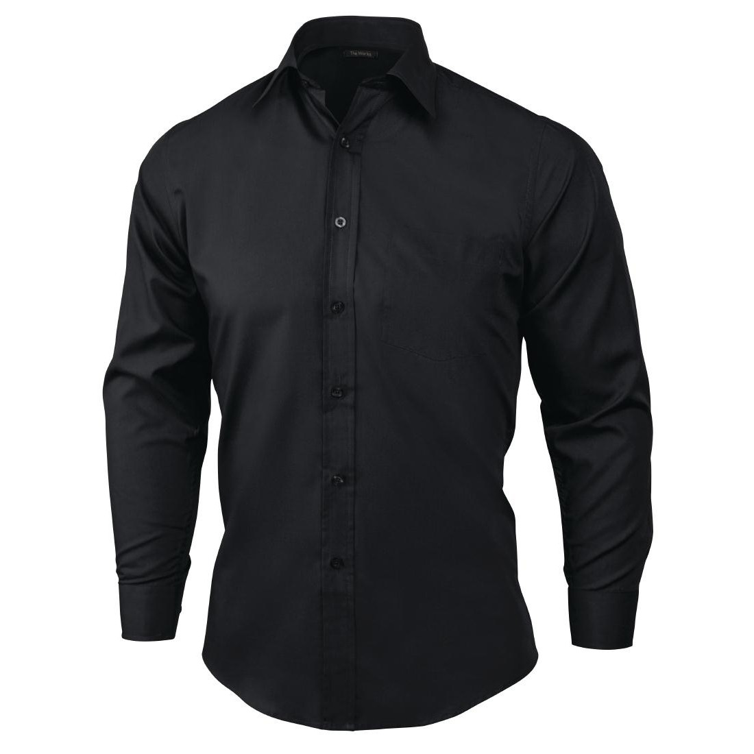 Chef Works Shirt Long Sleeve Black
