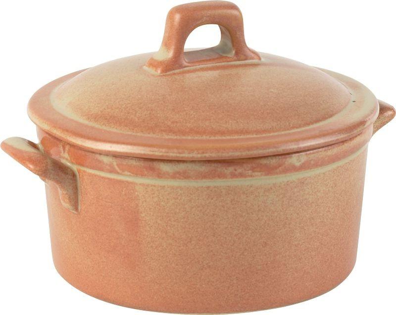 Rustico llama plato de la cazuela con tapa 42.5cl / 15 oz