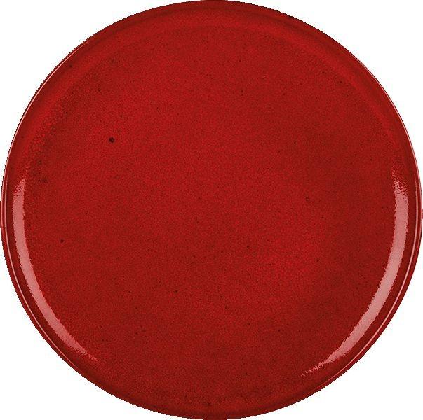 Rustico lava roja pizza de 31 cm Placa