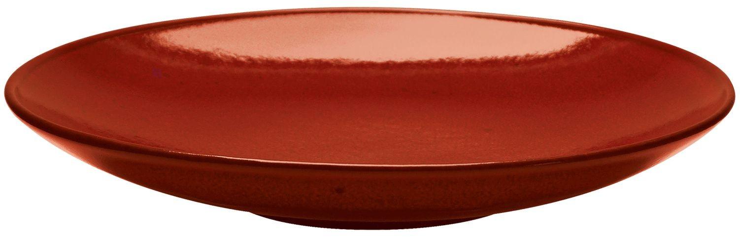 27cm Rustico lava roja Coupe Tazón