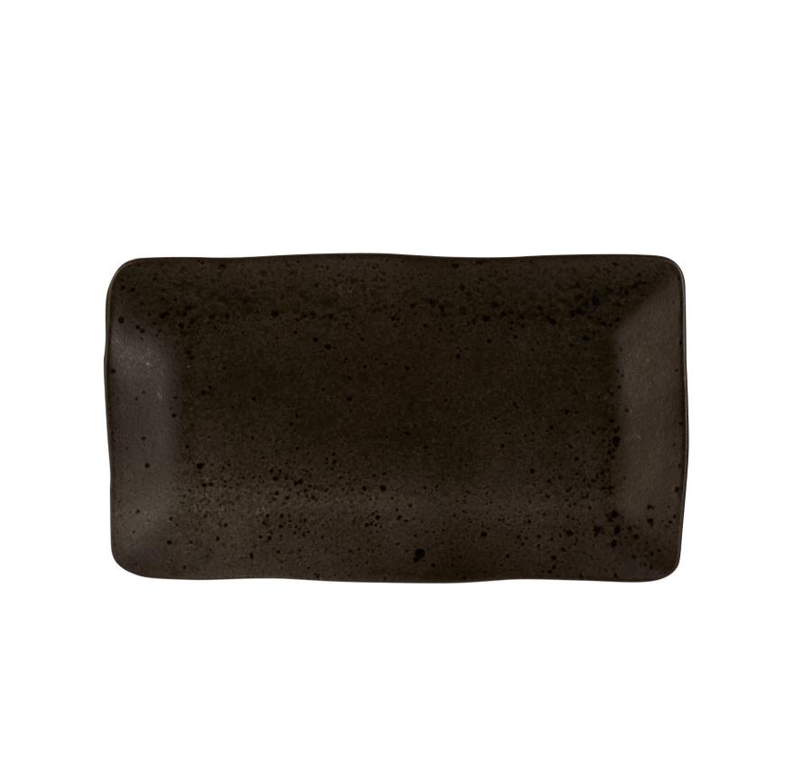 Rustico Negro Roca de Hierro placa rectangular de 27,5 x 15,5 cm