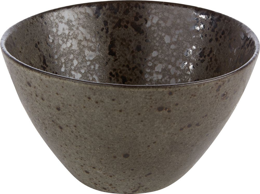 Rustico Negro Roca de Hierro profundo cuenco 15 x 8 cm