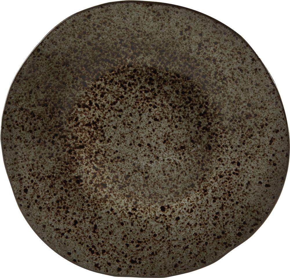 Rustico Negro Mineral de hierro de la placa principal 28.5cm