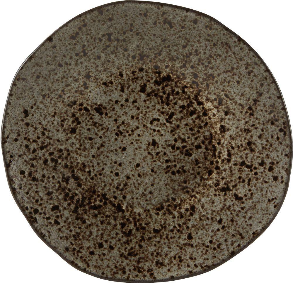 Rustico Negro Roca de Hierro Postre 21cm Plate