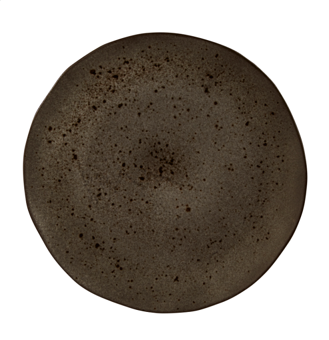 Rustico Negro Roca de Hierro Presentación 32cm Plate