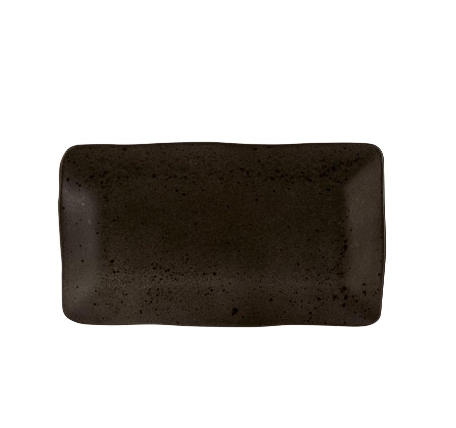 Rustico Negro Roca de Hierro placa rectangular de 36,5 x 21cm