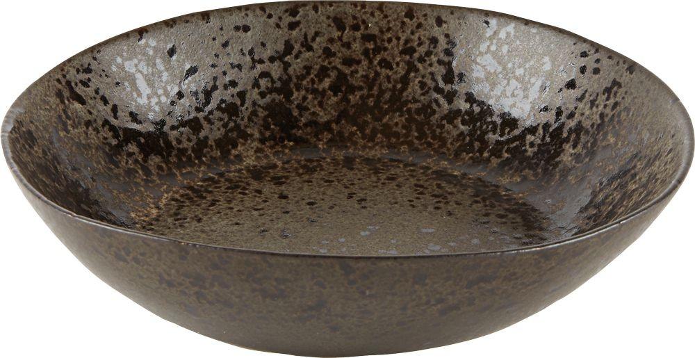 Rustico Negro Roca de Hierro Pasta Bowl 22 x 5 cm