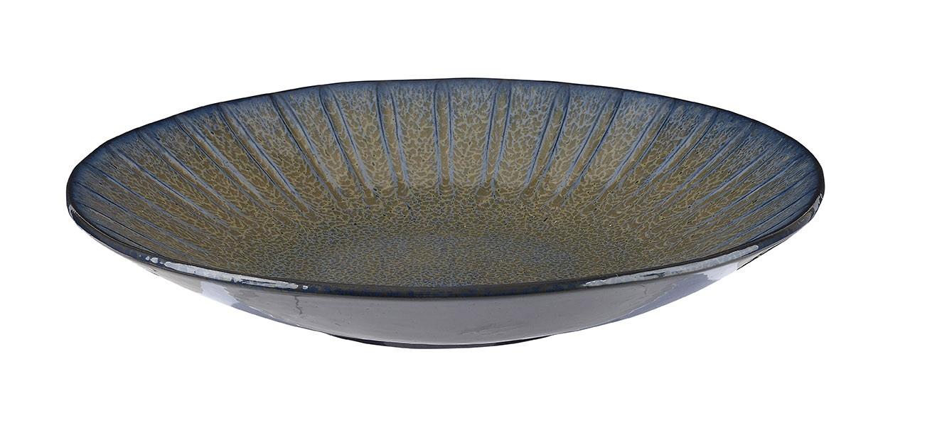 Rustico Impresiones Egeo profundo Coupe Tazón 30,5 x 5 cm