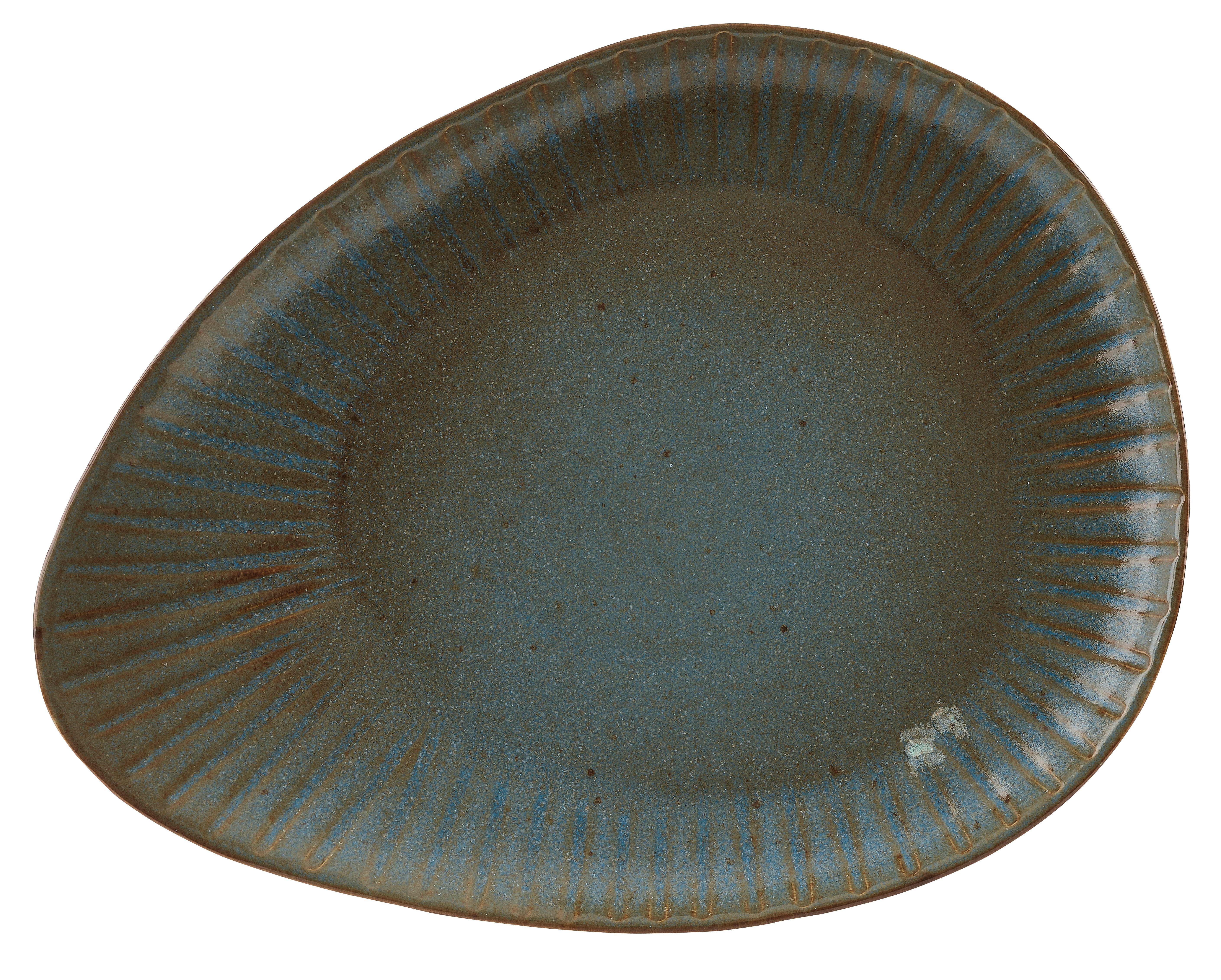 Rustico Impresiones Helecho oval 34cm Plate