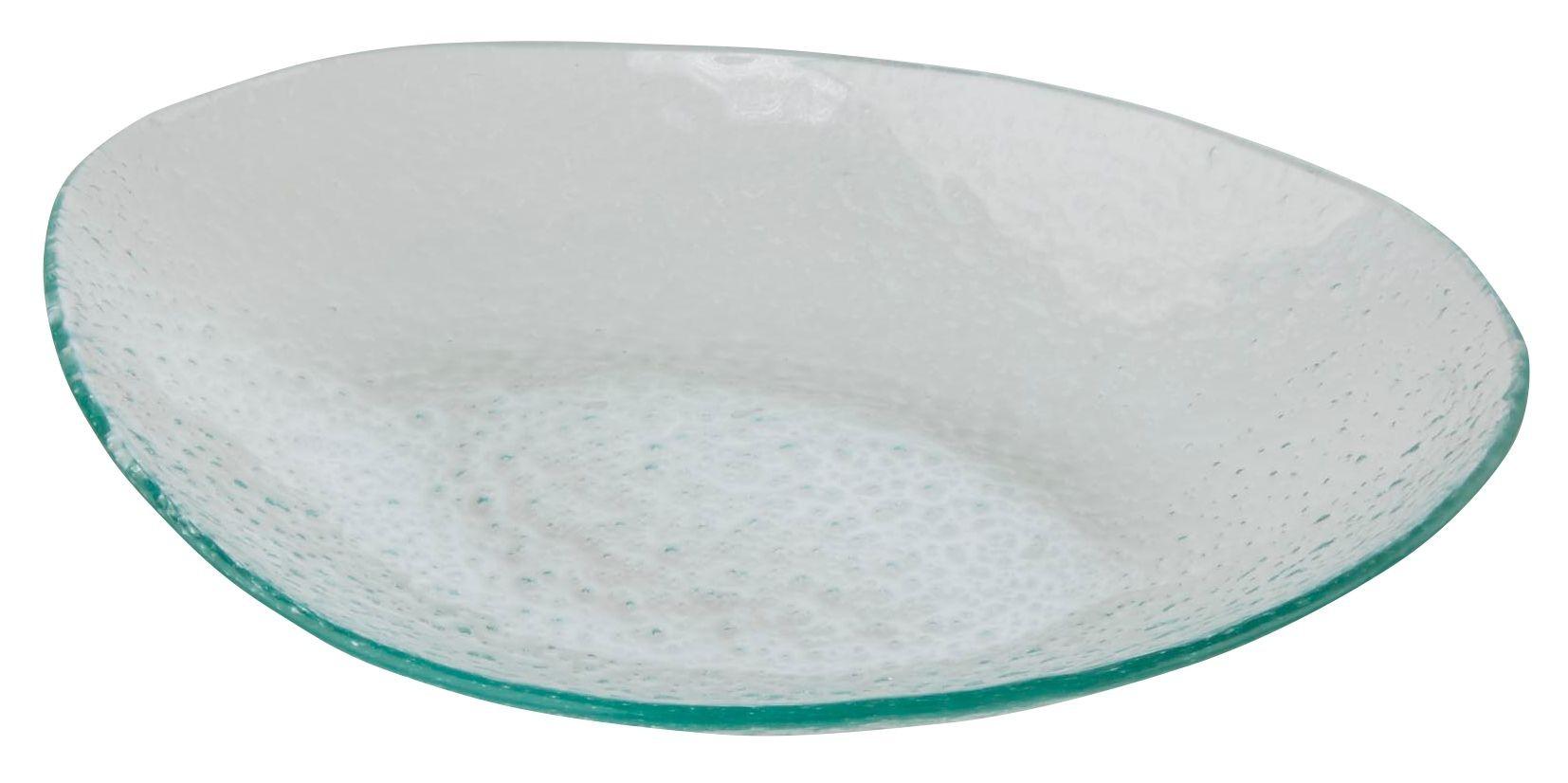 Glass Oval Plate 36 x 23.5cm