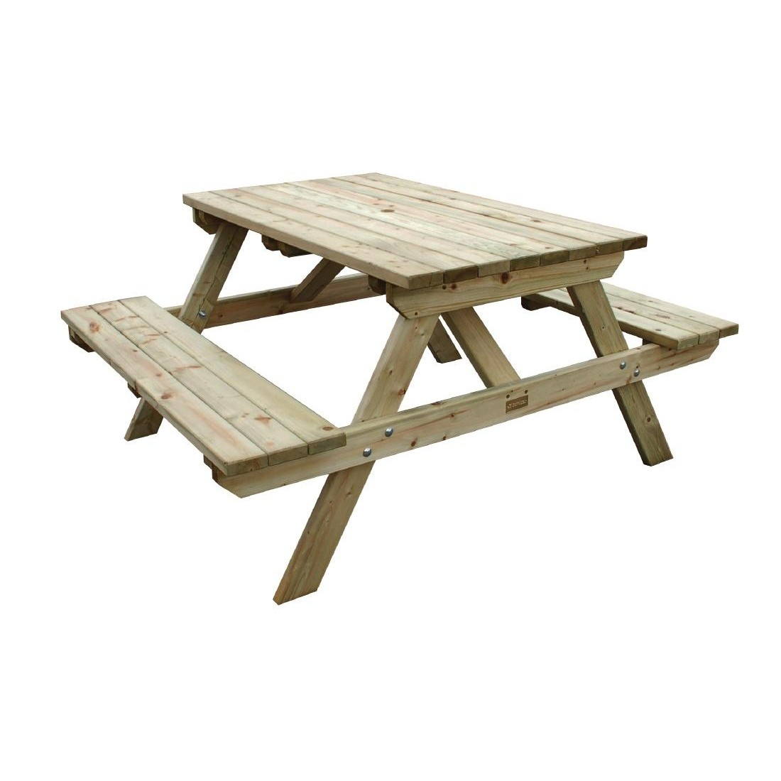 Incredible Wooden Picnic Bench 6 Seater Gmtry Best Dining Table And Chair Ideas Images Gmtryco