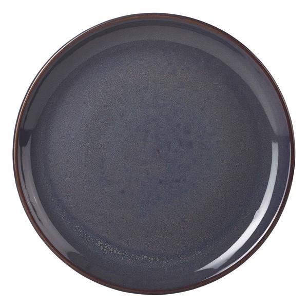 Terra Stoneware Coupe Plate Rustic Blue 24cm