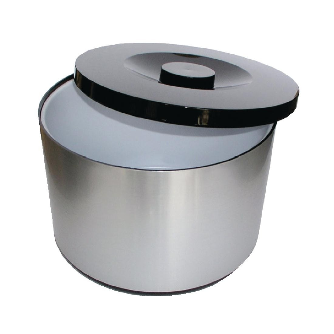 Plastic Ice Bucket Brushed Aluminium Effect 10ltr Wine And Ice Buckets Mbs Wholesale