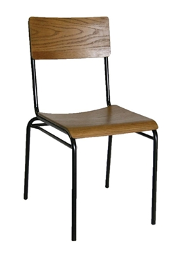 Bolero Industrial Metal & Wood Sidechairs