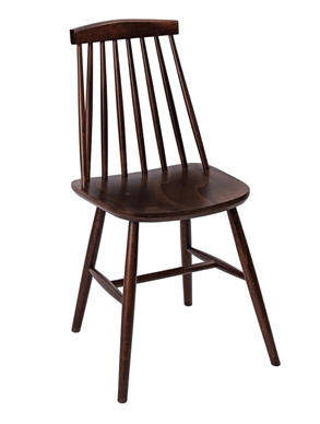 Fameg Farmhouse Angled Sidechair Walnut Effect
