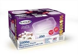Satco Microwave Food Containers with Lids 1000ml