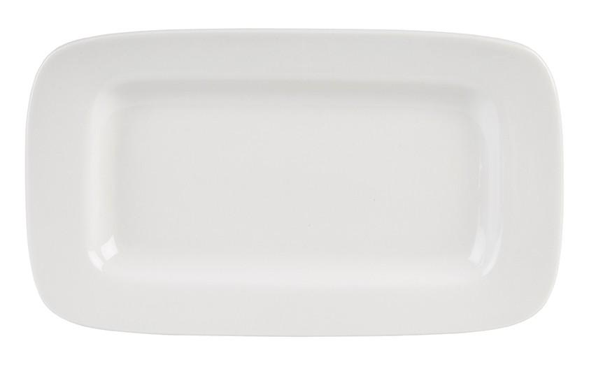 Simply Rimmed White Rectangular Platter 26.4 x 15.3cm