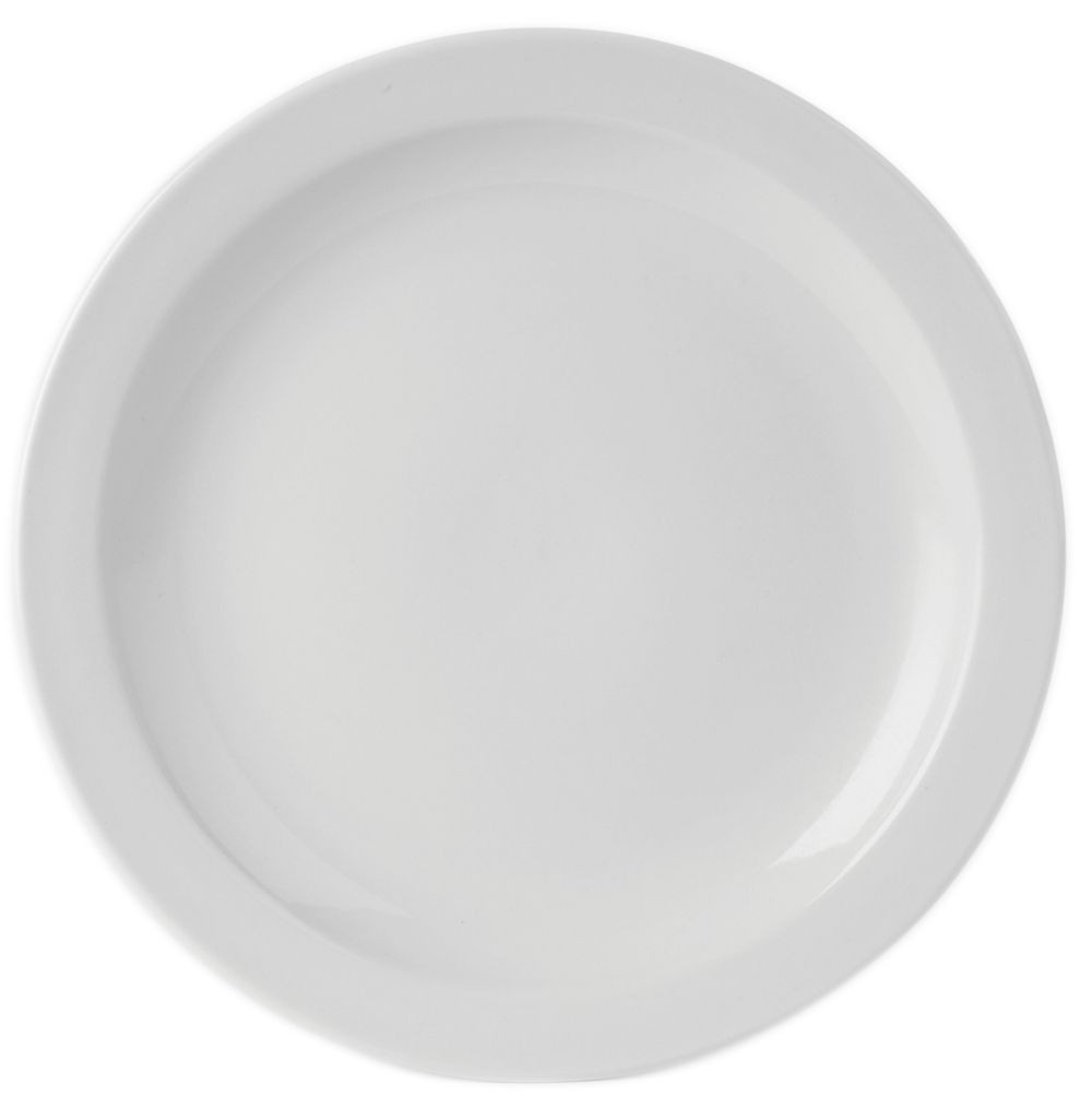 Simply Economy White 21cm Narrow Rim Plates