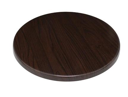 Bolero Round Table Top Dark Brown 800mm Dark Wood Effect Mix Match Table Tops Mbs Wholesale