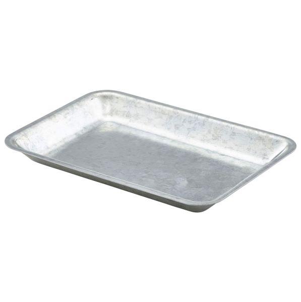 Galvanised Steel Serving Tray 20 x 14 x 2cm
