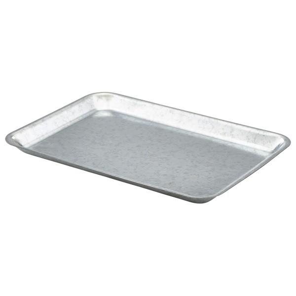 Galvanised Steel Serving Tray 31.5 x 21.5 x 2cm