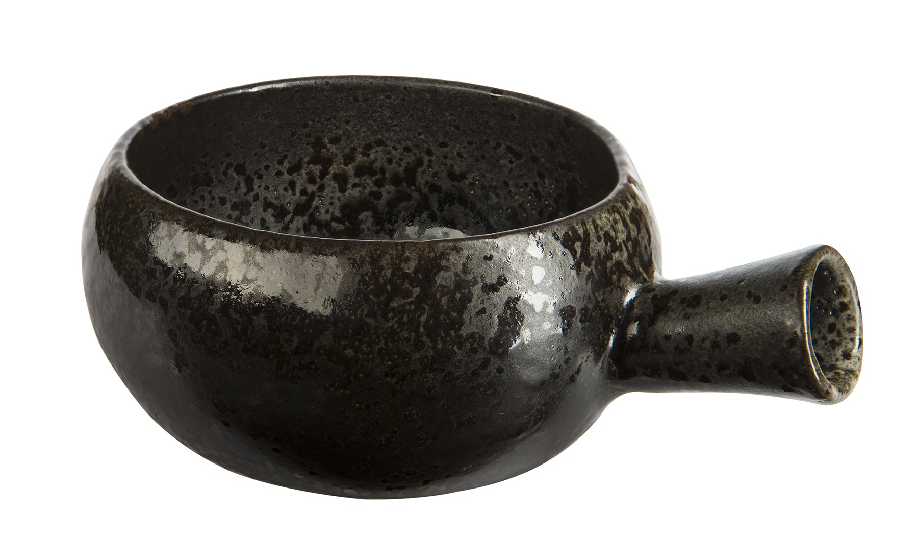 Rustico Black Ironstone Handled Soup Bowl 12 x 6.75cm/56cl