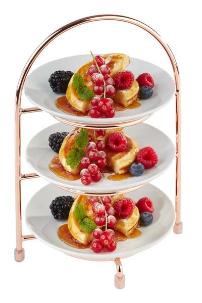 Copper 3 Tier Cake Plate Stand 18.5cm x 15.5cm