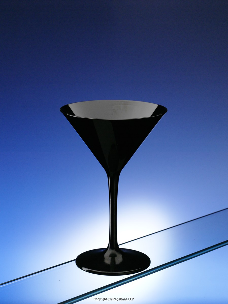 Premium Unbreakable Martini Glasses Black 8oz / 230ml