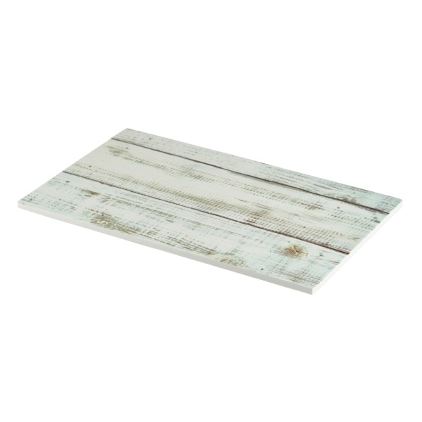 White Wash Wood Effect Melamine Platter 26.5 x 16cm