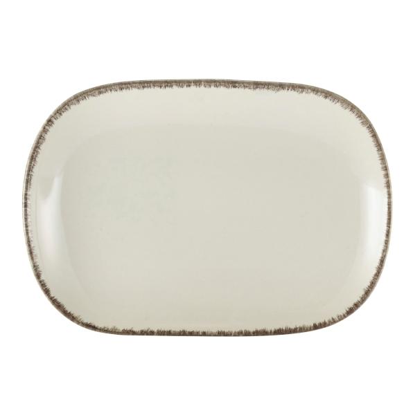 Terra Stoneware Rectangular Plate Sereno Grey 24 x 16.5cm