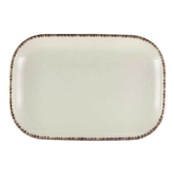 Terra Stoneware Rectangular Plate Sereno Grey 29 x 19.5cm